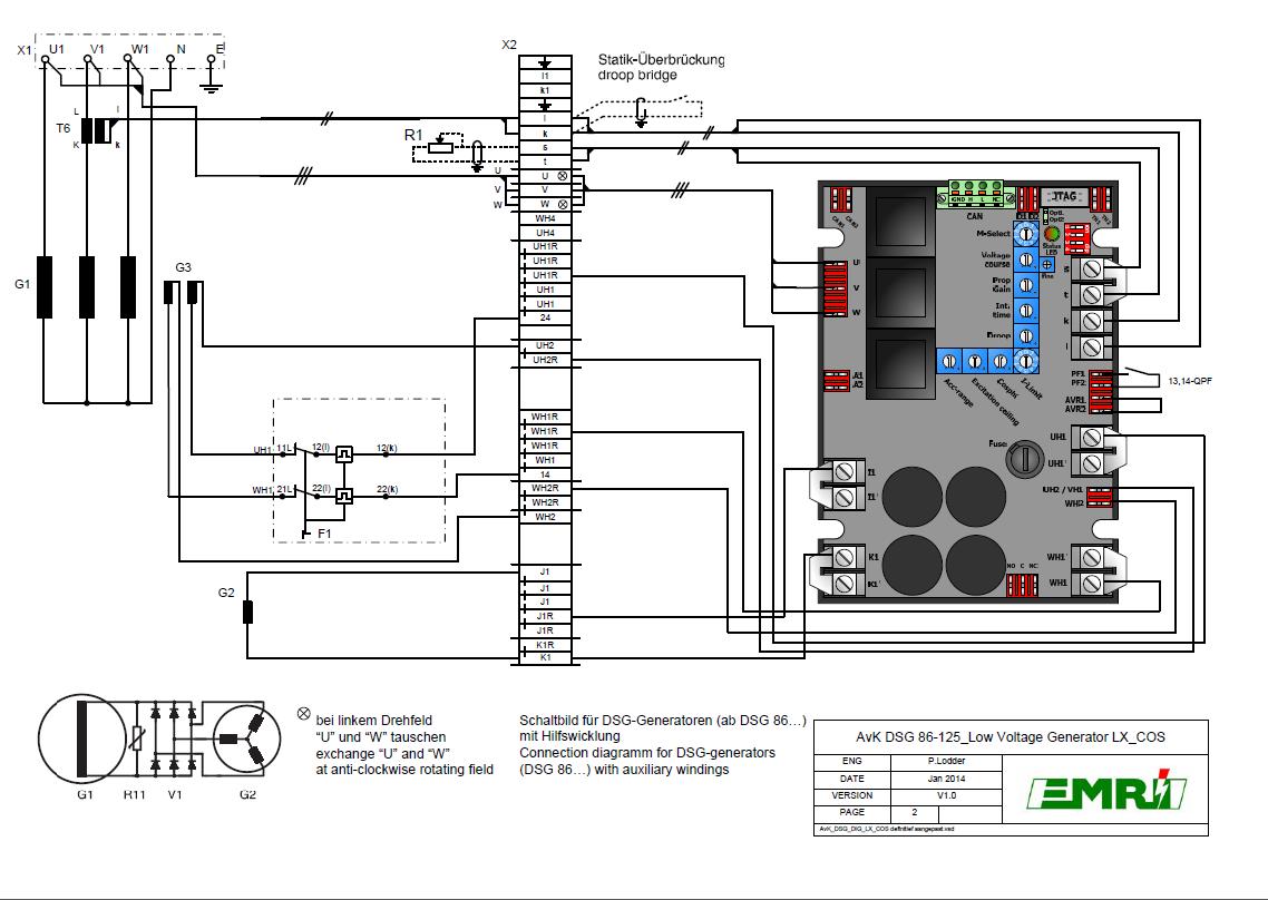 DSG 86-125 Low Voltage Generator